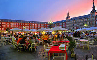 La Grand-Place (Plaza Mayor), Madrid, Espagne
