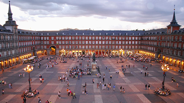 La Grand Place (Plaza Mayor), Madrid, Espagne